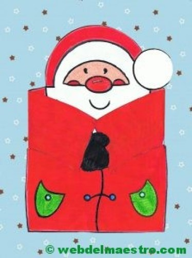 papa noel sobre fondo navideño