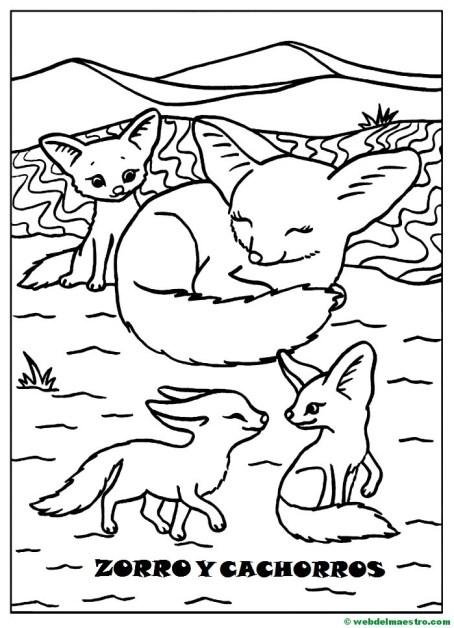 Dibujos Para Pintar Animales Y Sus Crías Web Del Maestro