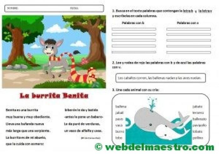 Lecturas infantiles-Letras b-v