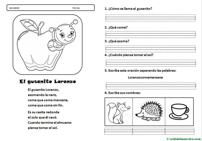 Lecturas infantiles-letra Z-actividades-letra de molde