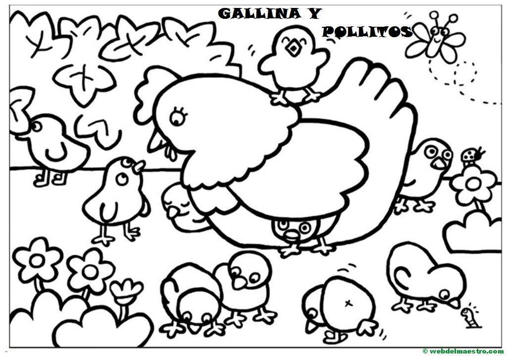 Excepcional Página Para Colorear De Bebé Pollito Imagen - Páginas ...