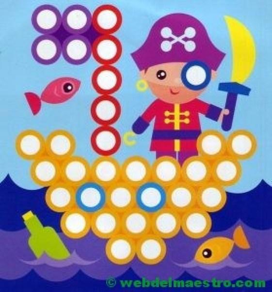 Plantillas para juegos con botones-pirata