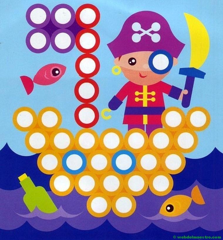 Plantillas para juegos con botones-pirata - Web del maestro