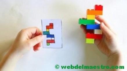 Psicomotricidad fina con piezas lego