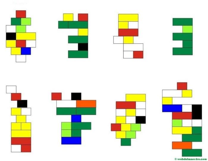 Psicomotricidad fina con piezas lego-esquemas-2