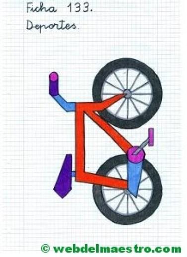 Dibujos en cuadrícula para copiar-Deportes