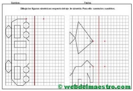Dibujos simetricos en cuadricula-5-