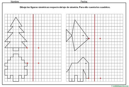 Simetría para niños de primaria Web del maestro