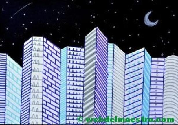 Dibujos en 3d de ciudad