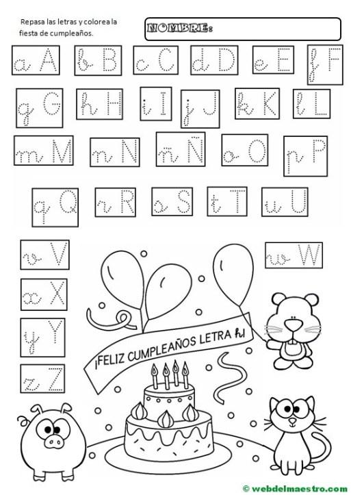 Letras del abecedario para repasar