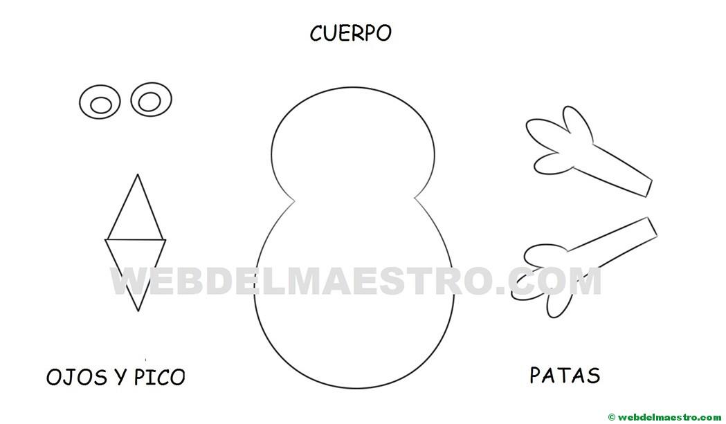 Modelo Para Manualidades Pavo Real Web Del Maestro