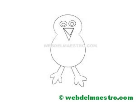 cuerpo del pavo real para colorear y recortar