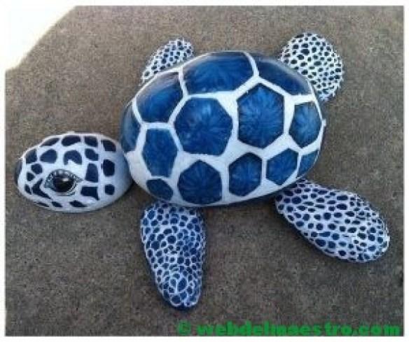 Decorar piedras-tortuga