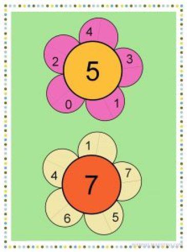 Descomponer los números 5 y 7-color-