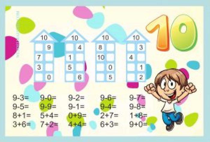 Descomponer números-Actividades color-10