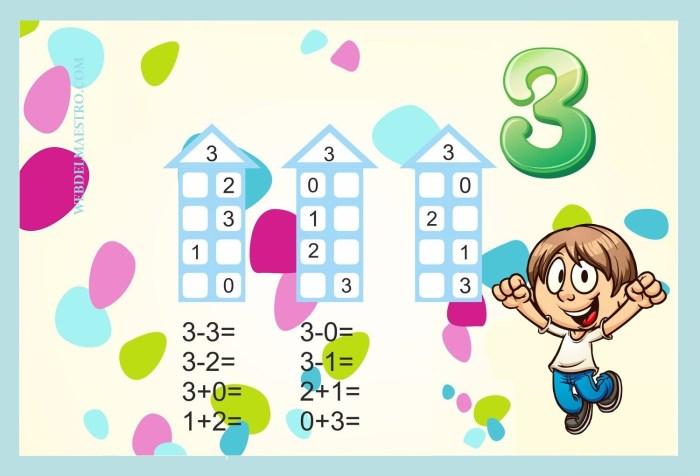 Descomponer números-Actividades color-3