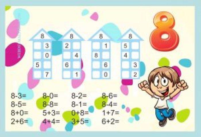 Descomponer números-Actividades color-8
