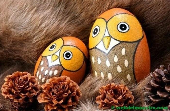 Piedras decoración-buhos-2