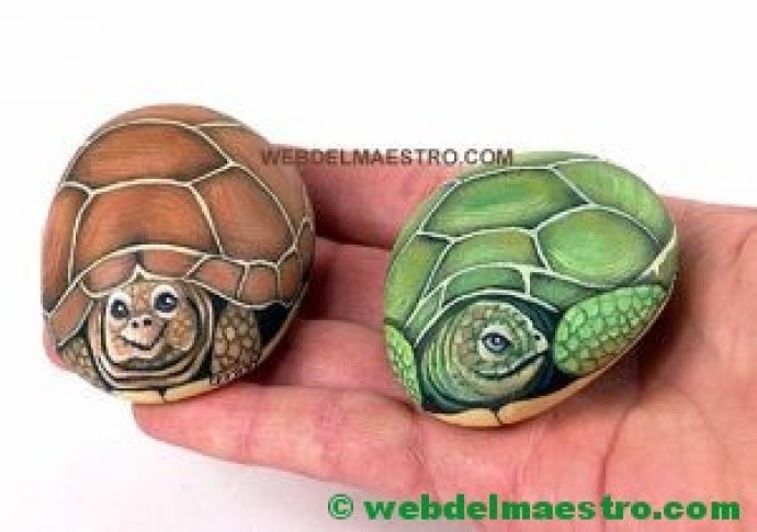 Piedras pintadas a mano-tortugas-4