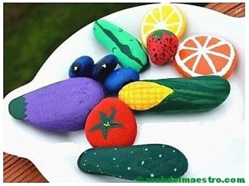 Piedras pintadas-frutas y hortalizas-3