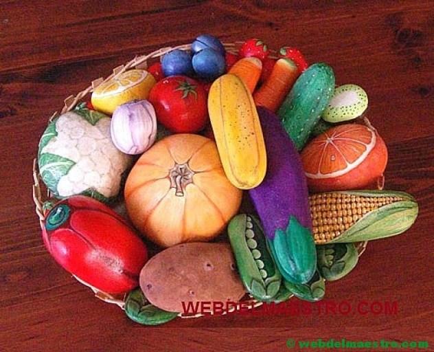 Piedras pintadas-frutas y hortalizas-4
