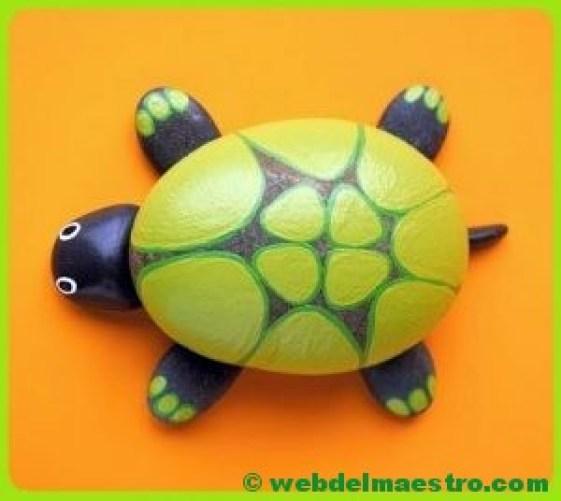 Piedras pintadas-tortuga