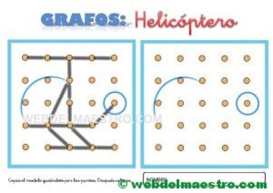 Dibujos para unir puntos-helicóptero
