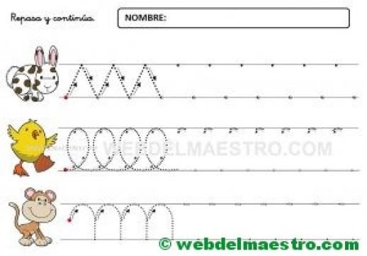 Ejercicios de grafomotricidad para 4 años-IX