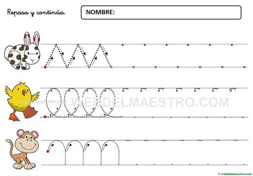 Fichas De Grafomotricidad Para Imprimir 4 Y 5 Años Web Del Maestro