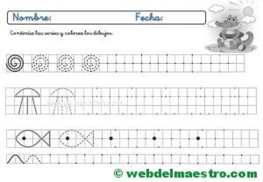 Ejercicios de grafomotricidad para imprimir-II-