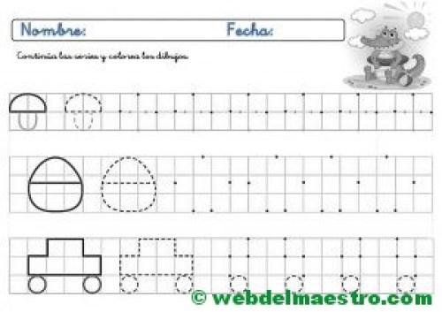 Ejercicios de grafomotricidad para imprimir-III