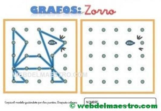 Grafos-Unir puntos-zorro-