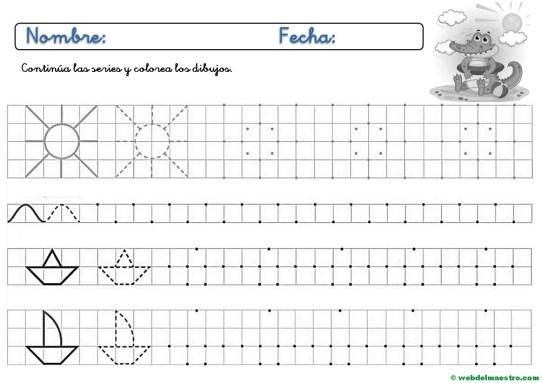 Fichas De Grafomotricidad Para Imprimir 4 Y 5 Anos Web Del Maestro