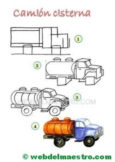Aprender a dibujar-camión cisterna