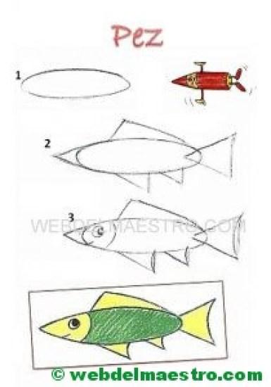 Cómo dibujar animales-pez