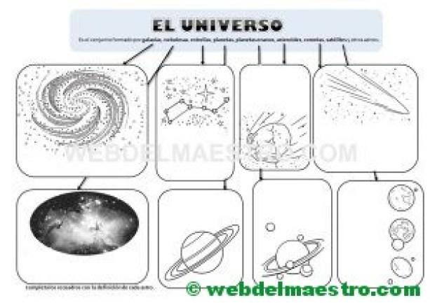 Esquema del Universo para completar