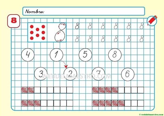 Grafomotricidad para imprimir con números