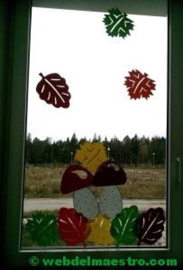 Ideas de otoño para decorar ventanas-5