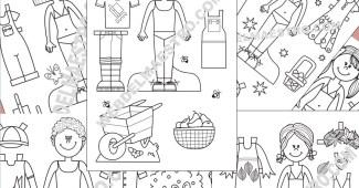 Muñecas recortables-II