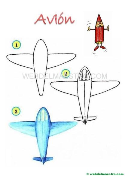 cómo dibujar -avión
