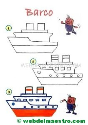 cómo dibujar-barco