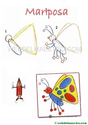 cómo dibujar-mariposa