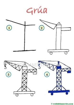dibujos fáciles-grúa