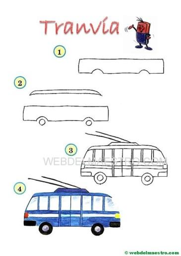 dibujos fáciles-tranvía