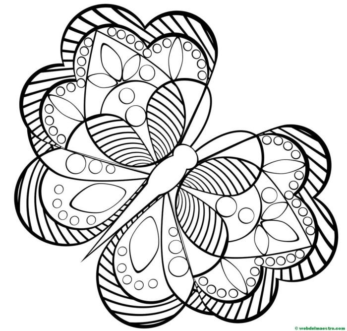 Dibujos antiestrés-mariposa