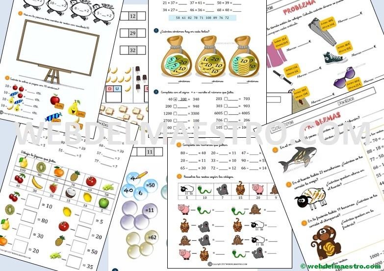 Fichas de matemáticas | Cálculo mental