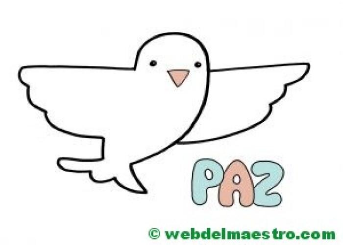 Paloma de la Paz para 2 años color-II
