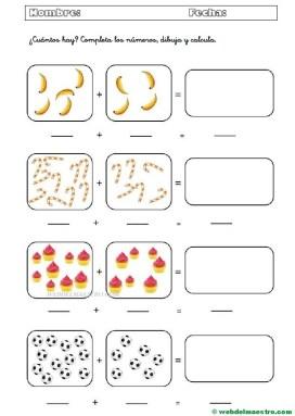 Fichas de matemáticas | Cálculo mental - Web del maestro