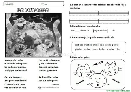 Lecturas infantiles-sonido ch-actividades
