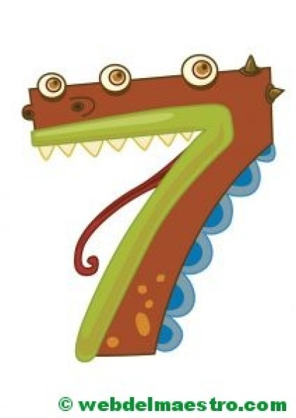 dibujo número siete
